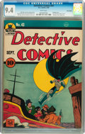 Golden Age (1938-1955):Superhero, Detective Comics #43 Billy Wright pedigree (DC, 1940) CGC NM 9.4White pages....