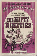 "Movie Posters:Animated, The Nifty Nineties (RKO, R-1953). One Sheet (27"" X 41""). Animated.. ..."