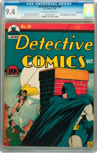 Detective Comics #44 Billy Wright pedigree (DC, 1940) CGC NM 9.4 Off-white to white pages