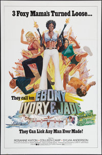 "Ebony, Ivory and Jade (Dimension, 1976). One Sheet (27"" X 41""). Action"