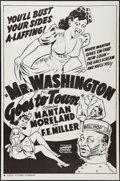 "Movie Posters:Black Films, Mr. Washington Goes to Town (Toddy Pictures, R-1940s). One Sheet(27"" X 41""). Black Films.. ..."