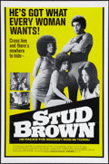 "Movie Posters:Blaxploitation, Dynamite Brothers (Cinemation Industries, 1974). One Sheet (27"" X41""). Blaxploitation. Also known as Stud Brown.. ..."