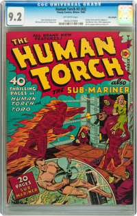 The Human Torch #3 (#2) Billy Wright pedigree (Timely, 1940) CGC NM- 9.2 Off-white pages