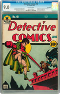 Golden Age (1938-1955):Superhero, Detective Comics #40 Billy Wright pedigree (DC, 1940) CGC VF/NM 9.0 Off-white pages....