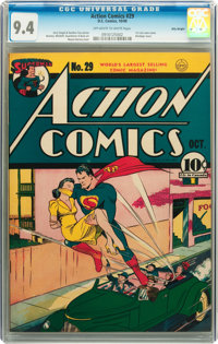 Action Comics #29 Billy Wright pedigree (DC, 1940) CGC NM 9.4 Off-white to white pages