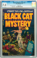 Golden Age (1938-1955):Horror, Black Cat Mystery #37 (Harvey, 1952) CGC VF- 7.5 Off-whitepages....