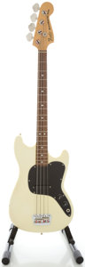 Musical Instruments:Bass Guitars, 1978 Fender Music Master Bass White Electric Bass Guitar, Serial#S836099....