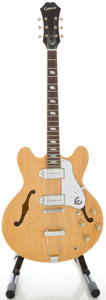 Musical Instruments:Electric Guitars, Epiphone Casino Natural Semi-Hollow Body Electric Guitar, Serial#U06110512....