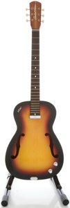 Musical Instruments:Electric Guitars, 1960's Vox Student Prince Sunburst Semi-Hollow Body ElectricGuitar, Serial #21070....
