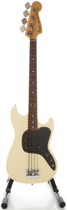 Musical Instruments:Bass Guitars, 1978 Fender Music Master Bass White Electric Bass Guitar, Serial#S835731....