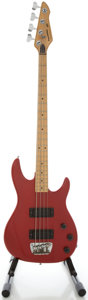 Musical Instruments:Bass Guitars, Circa 1980's Peavey Foundation Candy Apple Red Electric Bass Guitar, Serial #04172026....