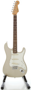Musical Instruments:Electric Guitars, 2002 Fender Stratocaster USA Inca Silver Solid Body ElectricGuitar, Serial #Z0286009....