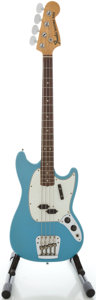 Musical Instruments:Bass Guitars, 1966 Fender Mustang Bass Daphne Blue Solid Body Electric Guitar, Serial #199258....