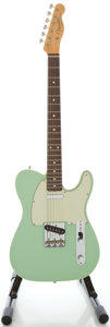 Musical Instruments:Electric Guitars, Fender Telecaster Custom '62 Reissue USA Surf Green Solid BodyElectric Guitar, Serial #V152668....
