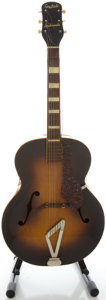 Musical Instruments:Acoustic Guitars, Circa Early 1940's Gretsch Synchromatic Sunburst Archtop AcousticGuitar....