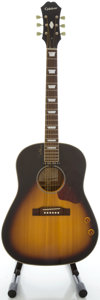 Musical Instruments:Acoustic Guitars, Epiphone EJ-160E John Lennon Sunburst Acoustic Guitar, Serial#SM05010952....