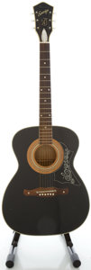 Musical Instruments:Acoustic Guitars, Circa 1970's Harmony Sovereign Black Acoustic Guitar...