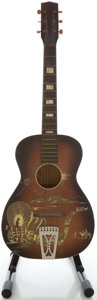 Musical Instruments:Acoustic Guitars, 1950's Silvertone Cowboy Sunburst Acoustic Guitar....