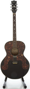 Musical Instruments:Acoustic Guitars, Epiphone Everly SQ180 Black Acoustic Guitar, Serial #0050613....