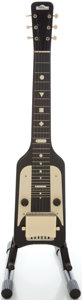 Musical Instruments:Lap Steel Guitars, Circa late 1950's Gretsch Electromatic Black Lap Steel Guitar....