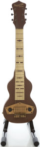 Musical Instruments:Lap Steel Guitars, Circa Early 1940's Epiphone Mastertone Special Brown Lap SteelGuitar, Serial #F1429141....