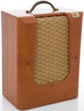 Musical Instruments:Amplifiers, PA, & Effects, Circa late 1940's Montgomery Ward Silvertone Brown GuitarAmplifier....