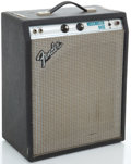 Musical Instruments:Amplifiers, PA, & Effects, Circa late 1970's Fender Musicmaster Bass Silver Guitar Amplifier, Serial #A892713....