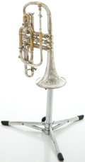 Musical Instruments:Horns & Wind Instruments, Circa 1920's Conn Silver Cornet, Serial #54060....