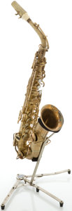 Musical Instruments:Horns & Wind Instruments, Circa 1925 Buescher True-Tone Low Pitch Brass Alto Saxophone, #152730....
