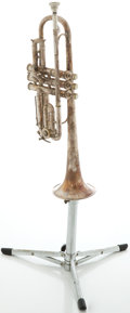 Musical Instruments:Horns & Wind Instruments, Circa 1920's King Master Silver Trumpet, #111320....