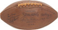 Football Collectibles:Balls, 1948 Cleveland Browns Team Signed Football - From Perfect Season!...