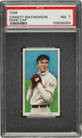 Baseball Cards:Singles (Pre-1930), 1909-11 T206 Piedmont Christy Mathewson, Dark Cap PSA NM 7....