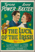 "Movie Posters:Romance, The Luck of the Irish (20th Century Fox, 1948). One Sheet (27"" X 41""). Romance.. ..."