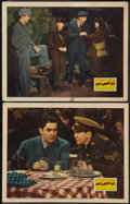 """Movie Posters:War, This Above All (20th Century Fox, 1942). Lobby Cards (2) (11"""" X14""""). War.. ..."""
