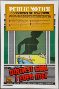 "The Dirtiest Girl I Ever Met (United Producers, 1972). One Sheet (27"" X 41""). Sexploitation"