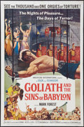 "Movie Posters:Adventure, Goliath and the Sins of Babylon (American International, 1964). OneSheet (27"" X 41""). Adventure.. ..."