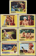 "Movie Posters:Adventure, Sabaka (United Artists, 1955). Title Lobby Card and Lobby Cards (6)(11"" X 14""). Adventure.. ... (Total: 7 Items)"