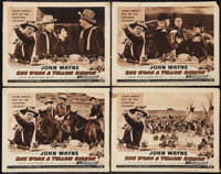 """She Wore a Yellow Ribbon (RKO, R-1954). Lobby Cards (4) (11"""" X 14""""). Western. ... (Total: 4 Items)"""