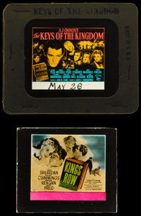 """The Keys of the Kingdom & Other Lot (20th Century Fox, 1944). Glass Slides (1) (3.25"""" X 4"""" with its or..."""
