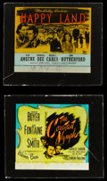 "Movie Posters:Drama, The Constant Nymph & Other Lot (Warner Brothers, 1943). GlassSlides (2) (2.5"" X 3"" without original holders). Drama.. ...(Total: 2 Items)"