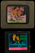 """Movie Posters:Sports, Gentleman Jim & Other Lot (Warner Brothers, 1942). Glass Slides (1) (2.5"""" X 3"""" without original holder) & (1) (3.25"""" X 4"""" in... (Total: 2 Items)"""