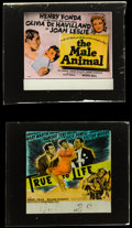 "Movie Posters:Comedy, True to Life & Other Lot (Paramount, 1943). Glass Slides (2)(2.5"" X 3"" without original holders). Comedy.. ... (Total: 2 Items)"