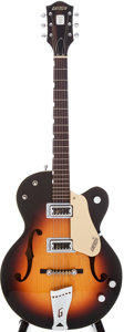 Musical Instruments:Electric Guitars, 1960 Gretsch 6117 Sunburst Semi-Hollow Body Electric Guitar, Serial# 37198....
