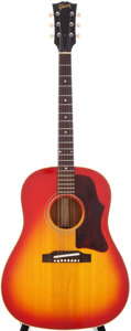 Musical Instruments:Acoustic Guitars, Late 1960s Gibson J-45 Sunburst Acoustic Guitar, Serial #856514....
