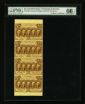 Fractional Currency:First Issue, Fr. 1280 25¢ First Issue Vertical Strip of Four PMG GemUncirculated 66 EPQ.. ...
