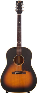 Musical Instruments:Acoustic Guitars, 1955 Gibson J-45 Sunburst Acoustic Guitar, Serial # W282520....