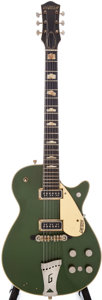 Musical Instruments:Electric Guitars, 1957 Gretsch Duo Jet 6128 Cadillac Green Electric Guitar, Serial #25566....
