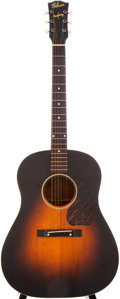 Musical Instruments:Acoustic Guitars, 1943/44 Gibson J-45 Sunburst Acoustic Guitar, Serial # 2221....