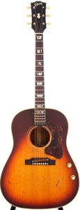 Musical Instruments:Acoustic Guitars, 1967 Gibson J-160E Sunburst Acoustic Electric Guitar, Serial # 040026....