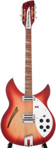 Musical Instruments:Electric Guitars, 2000 Rickenbacker 360/12 V64 Fireglo Semi-Hollow Body ElectricGuitar, Serial # OO 18827....